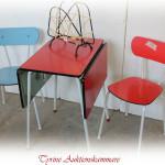 retro bord stolar