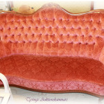 soffa rödrosa